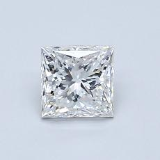 0,75-Carat Princess Diamond Very Good F VS2
