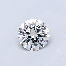 0.50-Carat Round Diamond Ideal H VVS2