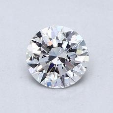 0.75 Carat 圆形 Diamond 理想 D SI1