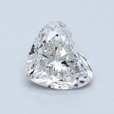 1.00 Carat Corazõn Diamond Muy buena E SI1