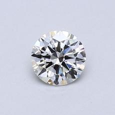 0.50 Carat 圓形 Diamond 理想 H IF