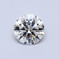 0.62 Carat 圆形 Diamond 理想 H IF