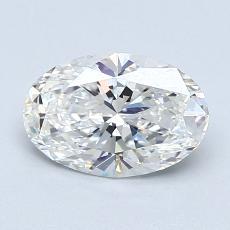 1.02-Carat Oval Diamond Very Good G VVS1