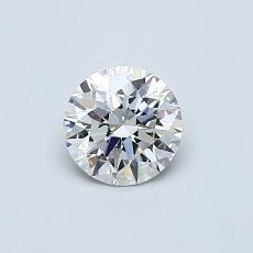 0.52 Carat 圆形 Diamond 理想 F VVS2