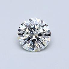 0.53 Carat 圆形 Diamond 理想 H IF