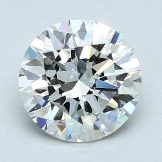 2,01-Carat Round Diamond Ideal F VS1