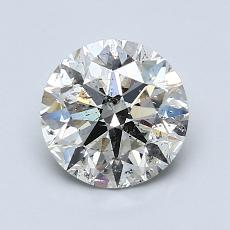 1.29-Carat Round Diamond Ideal K SI2