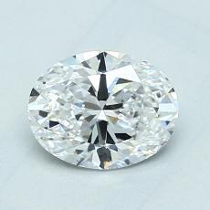 1,01 Carat Ovale Diamond Très bonne D VVS2