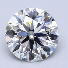 2.00-Carat Round Diamond Ideal G VVS1