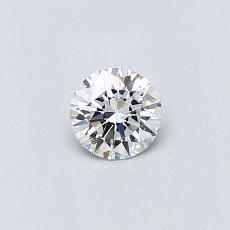 0.30 Carat 圆形 Diamond 理想 H IF