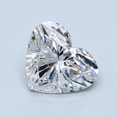 Pierre recommandée n°4: Diamant taille cœur 1,02carat