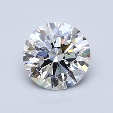 1.00-Carat Round Diamond Ideal D VVS2