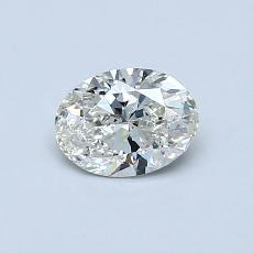 0.50-Carat Oval Diamond Very Good J SI2