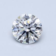 0.79 Carat 圆形 Diamond 理想 D VS2