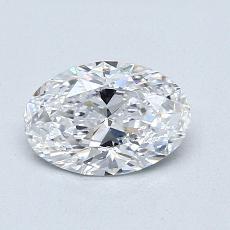 推荐宝石 1:0.90克拉椭圆形切割钻石