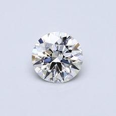 0.40 Carat 圆形 Diamond 理想 H VS1