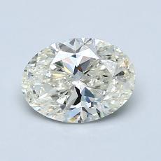 1.00 Carat 椭圆形 Diamond 非常好 K SI1