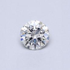 0.30-Carat Round Diamond Ideal G VS2