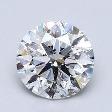 1.50 Carat 圆形 Diamond 理想 D SI2