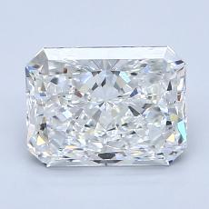 Pierre recommandée n°4: Diamant taille radiant 2,01 carats