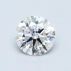 0.70 Carat 圓形 Diamond 理想 E VVS1