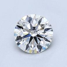 1.00-Carat Round Diamond Ideal H VVS1