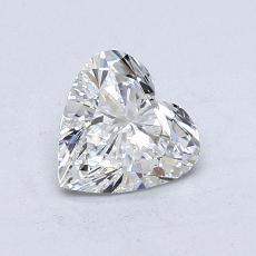 Piedra recomendada 2: Diamante con forma de corazón de 0.82 quilates