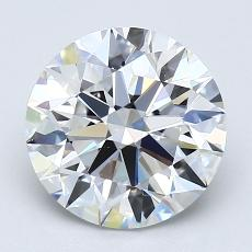 2.01 Carat Redondo Diamond Ideal F VVS2