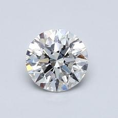 0.75-Carat Round Diamond Ideal F VVS1