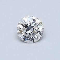 推薦鑽石 #4: 0.43 克拉圓形切割鑽石