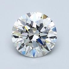 1.39 Carat ラウンド Diamond アイデアル G VS1