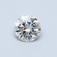 0.50 Carat 圆形 Diamond 理想 I VVS2
