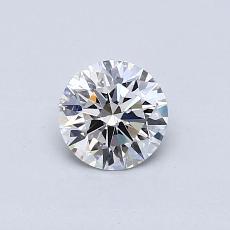0.53-Carat Round Diamond Ideal G VS2
