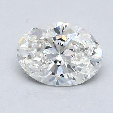 1,00-Carat Oval Diamond Very Good G VS1