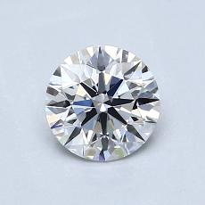0,76-Carat Round Diamond Ideal D VVS2