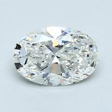 1,04-Carat Oval Diamond Very Good H VVS1