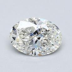 1.02-Carat Oval Diamond Very Good I SI2