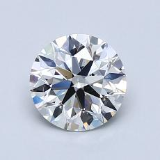 1.00-Carat Round Diamond Ideal F VS2