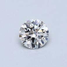 0,40-Carat Round Diamond Ideal G SI1