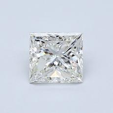 Pierre recommandée n°1: Diamant taille princesse 0,75 carat