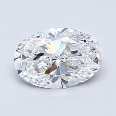 0,90-Carat Oval Diamond Very Good D VVS1