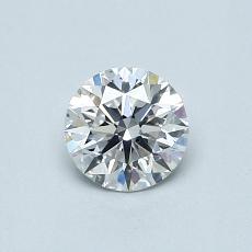 0.50 Carat 圓形 Diamond 理想 E SI1