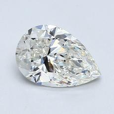 目标宝石:1.01 克拉梨形切割钻石
