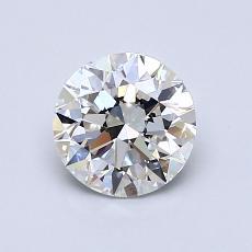 0.90-Carat Round Diamond Ideal F VVS2