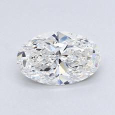 0.91 Carat 椭圆形 Diamond 非常好 E VS2