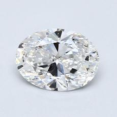 推荐宝石 1:0.93克拉椭圆形切割钻石