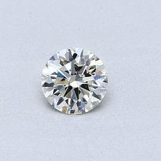 0,30-Carat Round Diamond Ideal K SI1
