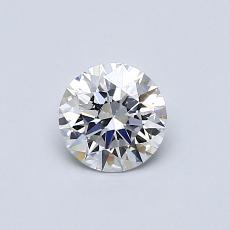 0.50 Carat 圓形 Diamond 理想 E VVS1