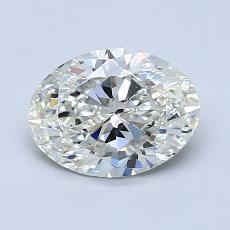 1.20-Carat Oval Diamond Very Good H SI1