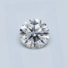 0.41-Carat Round Diamond Ideal F VS2